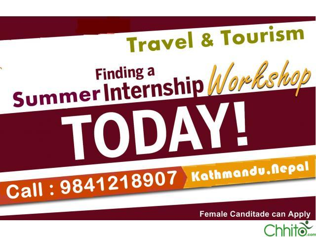 Looking for Internship in Travel & Tourism .Get to Learn first