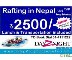 Rafting in Nepal @ Rs.2500/- Day Trip