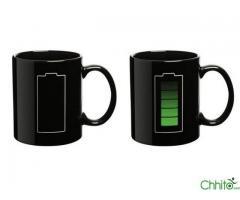 battery level mug