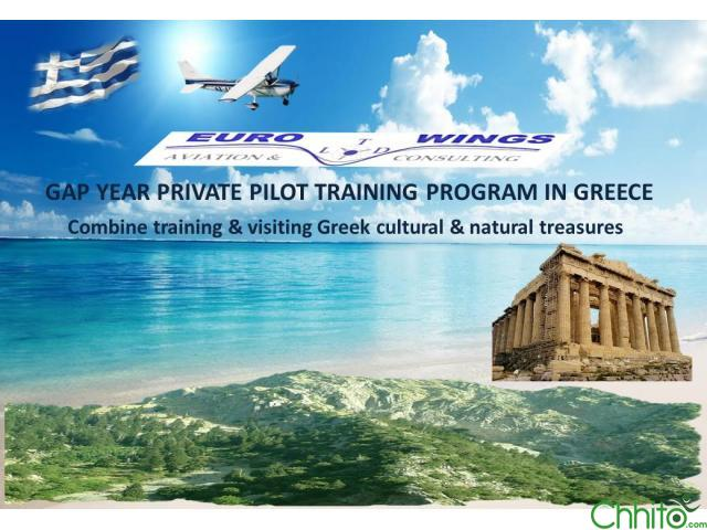 GAP Year Training Program for Private Pilot License (PPL(A) in Greece