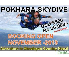 POKHARA SKYDIVE- An adventure in Himalayan Country Nepal
