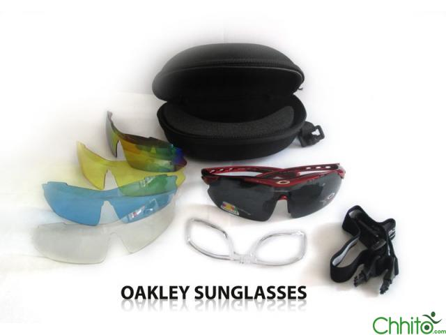 Oakley Biker Sunglasses (with Portable Power Glass Support)