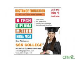 B.Tech M.Tech, Diploma, MBA,Distance Education-ssk college