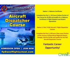 FAA AIRCRAFT / FLIGHT DISPATCHER COURSE WITH OPTIONS OF DIPLOMA AND LICENSE