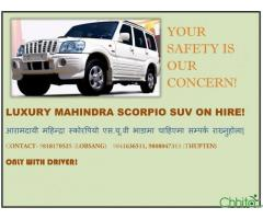 Luxurious Scorpio for Hire!