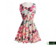 Flower prints One piece Dress