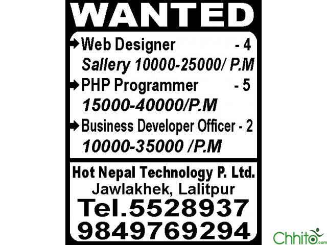 Wanted For IT Profesional